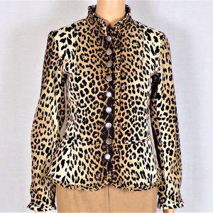 Light jacket size 4 brown/beige/fawn animal spots